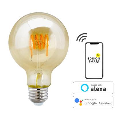 スマート家電。電球。おしゃれな裸電球。AIスピーカー対応。